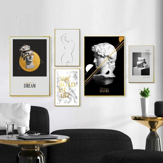 Statue of David The Road of Art Quote Vogue Nordic Posters