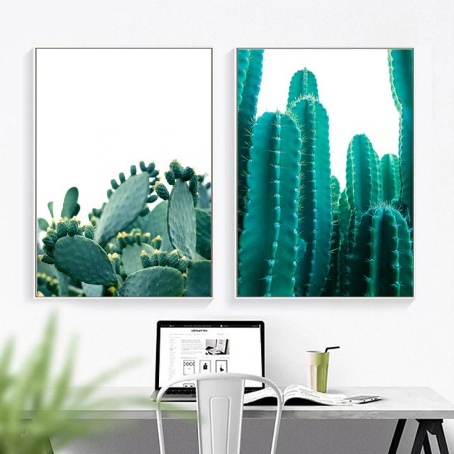 Cactus Wall Art Canvas Painting Posters And Prints