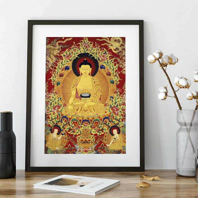 Thangka Unique Buddhism Traditional Realistic Painting