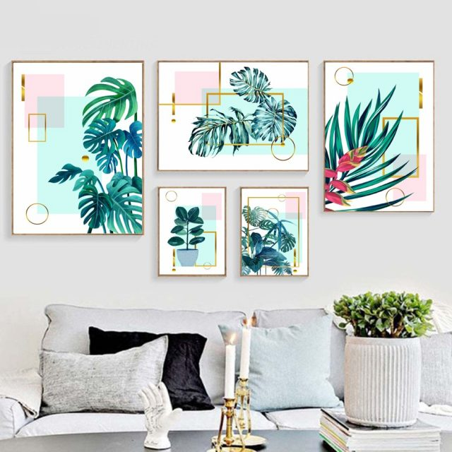 Tropical Big Leaves Pop Art Posters And Prints
